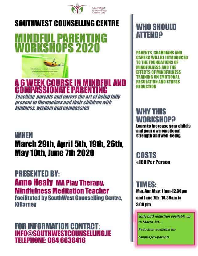 Mindfullness parenting course